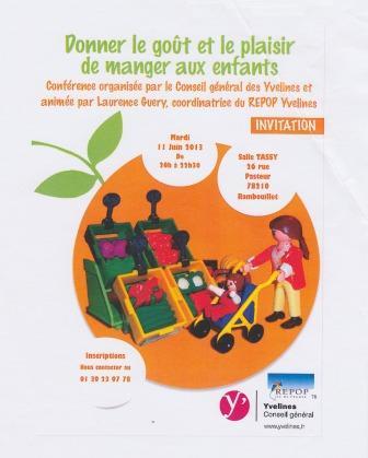 """Le 11 juin 2013 Formation : """"Donner le goût et le plaisir de manger"""""""