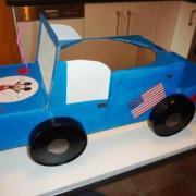 Défilé des petites voitures Américaines le 17 juin